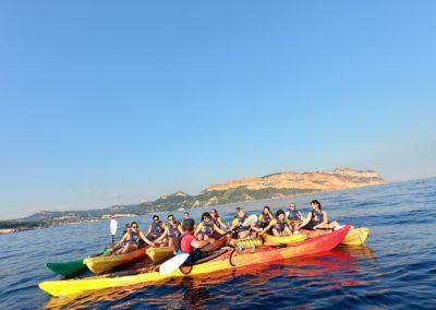 BIODERMA canoë-kayak Cassis - coucher de soleil - Calanc'O Kayak Cassis