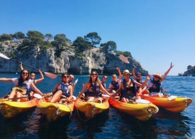 EVJF canoë-kayak Cassis - demi-journée calanques - Calanc'O Kayak Cassis