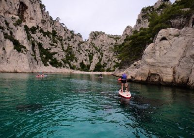 Anne-Sophie Bauer ancienne joueuse pro à Le Cannet Volleyball stand up paddle Cassis - Demi-journée SUP calanques - Calanc'O SUP Cassis